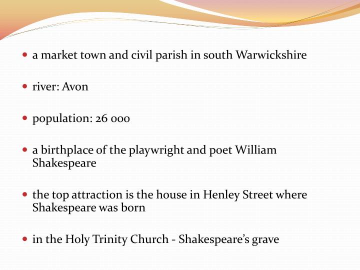 a market town and civil parish in south Warwickshire