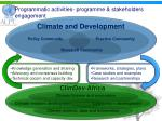 programmatic activities programme stakeholders engagement