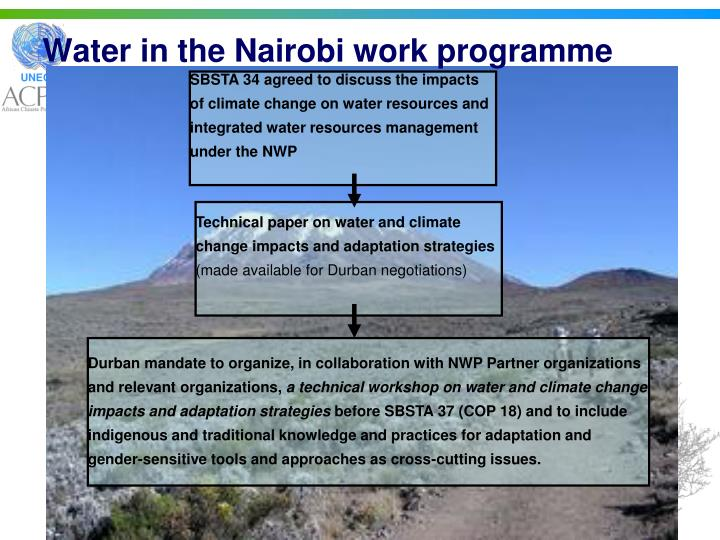 Water in the Nairobi work programme