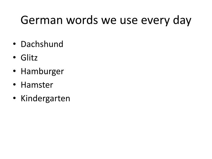 German words we use every day