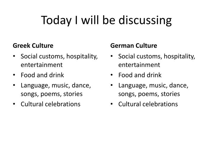 Today I will be discussing