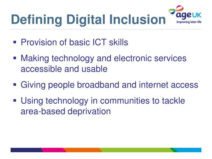 Defining Digital Inclusion