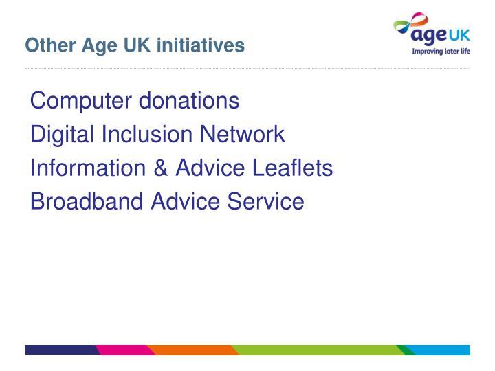 Other Age UK initiatives