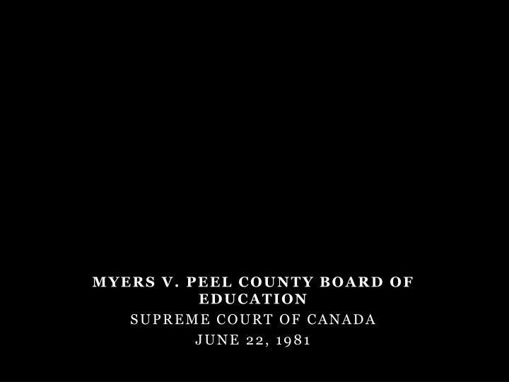 Myers v. Peel County Board of Education