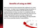 benefits of using an amc