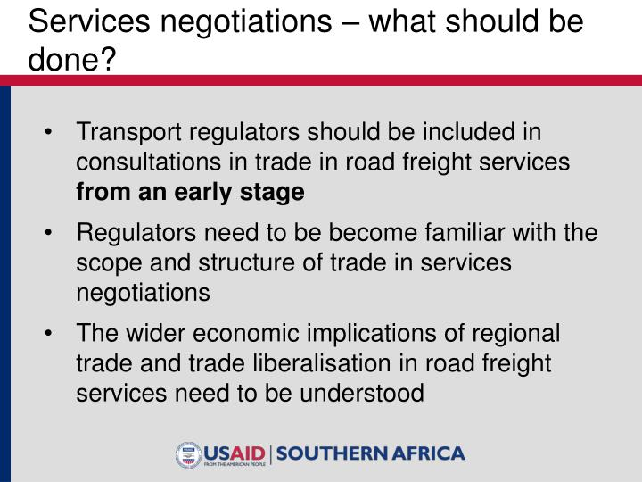 Services negotiations – what should be done?