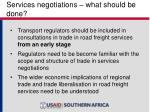 services negotiations what should be done