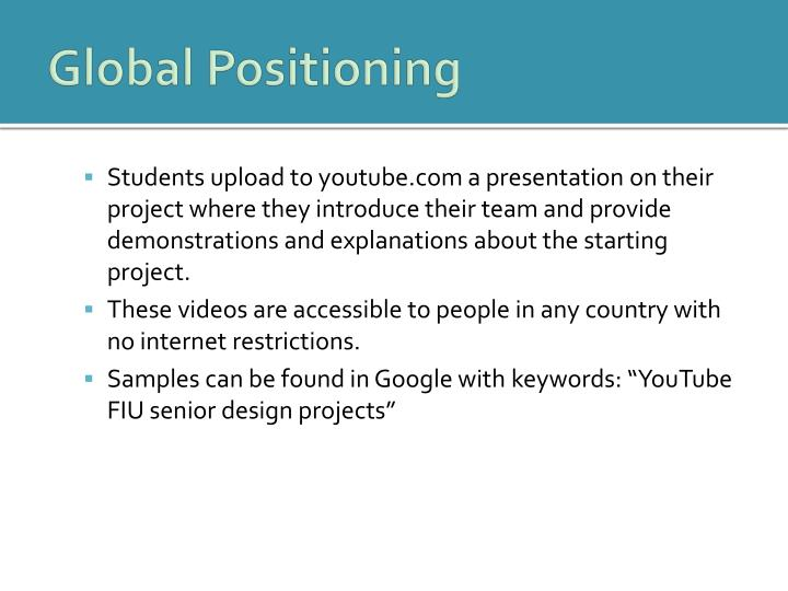 Global Positioning