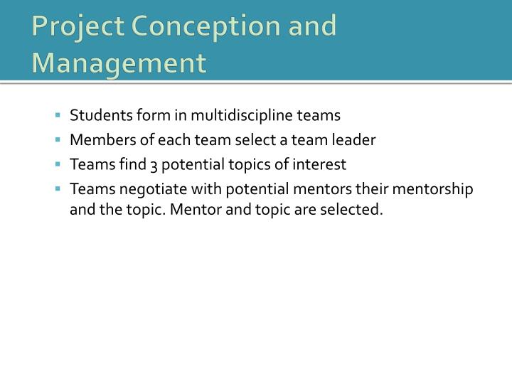 Project Conception and Management