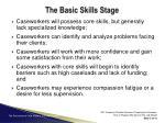 the basic skills stage