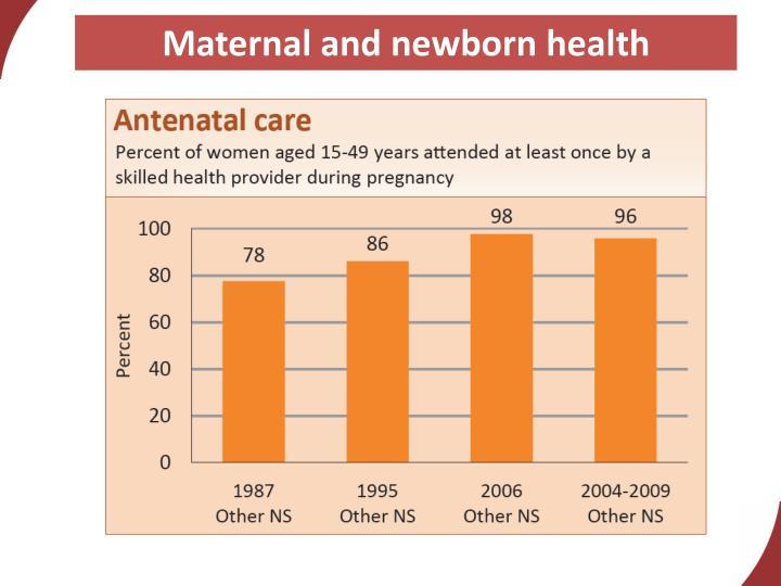 Maternal and newborn health