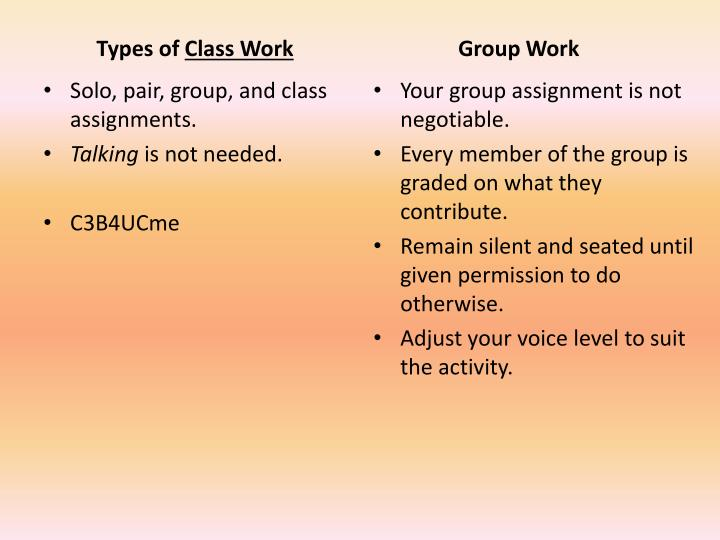 Your group assignment is not negotiable.