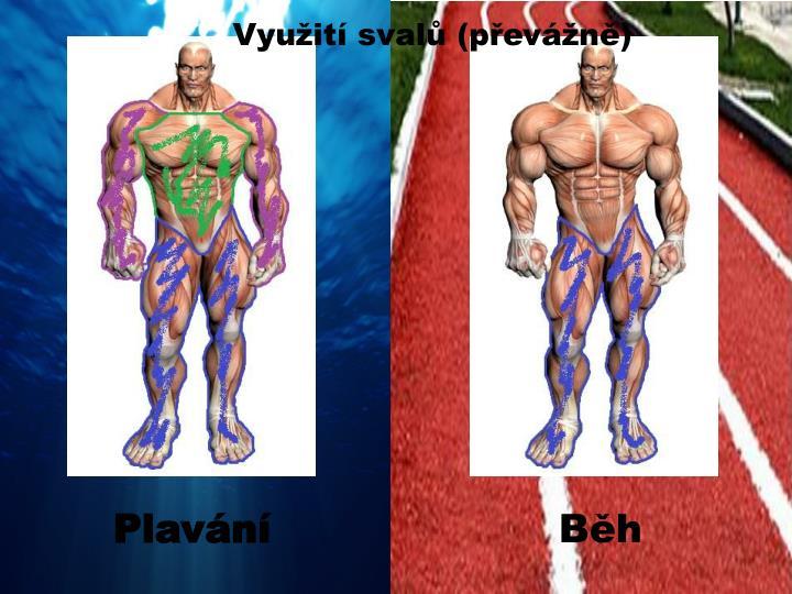 Využití svalů (převážně)