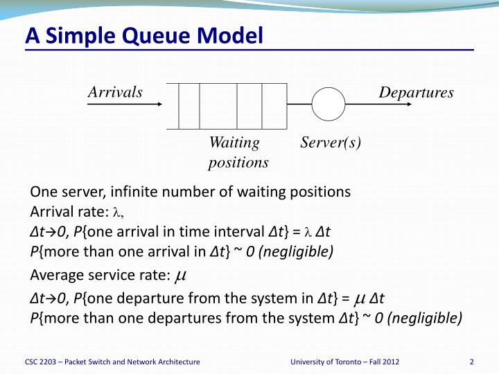 A simple queue model