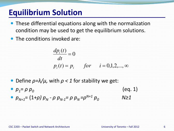 Equilibrium Solution