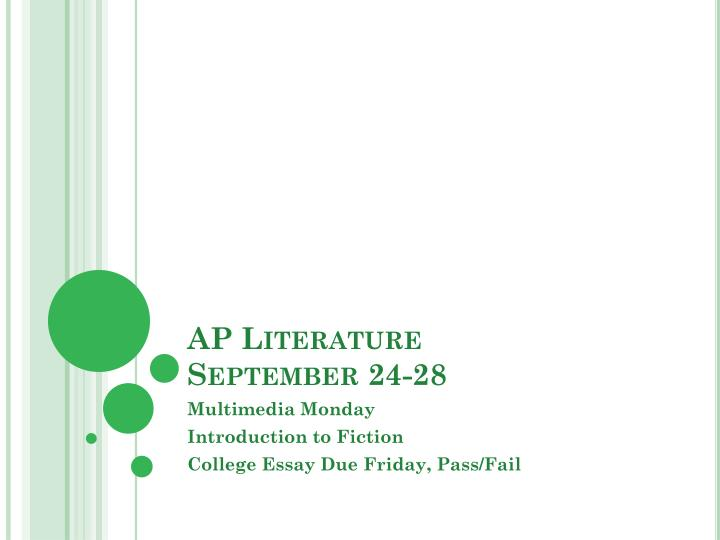 Ap literature september 24 28