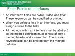 finer points of interfaces