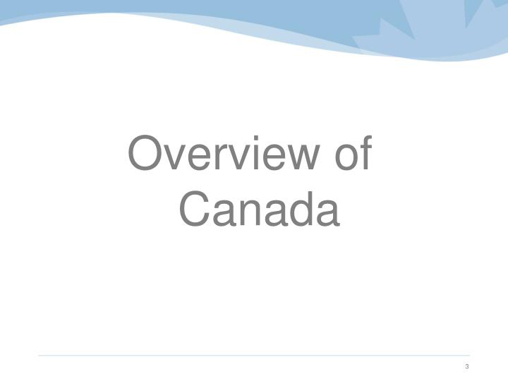 Overview of Canada