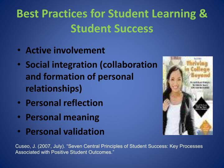 Best Practices for Student Learning & Student Success