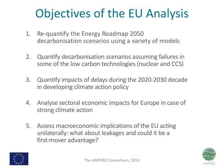 Objectives of the EU Analysis