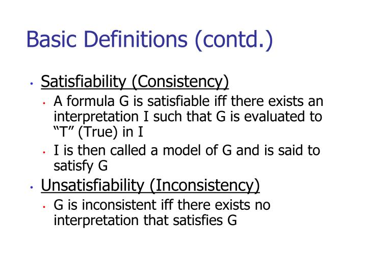 Basic Definitions (contd.)