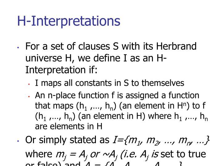 H-Interpretations