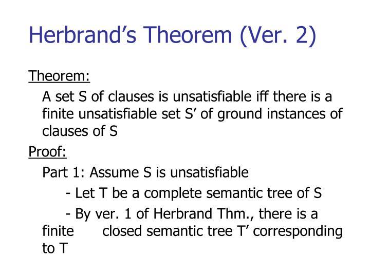 Herbrand's Theorem (Ver. 2)