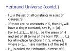 herbrand universe contd