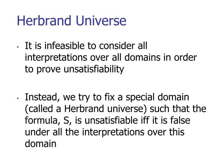 Herbrand Universe