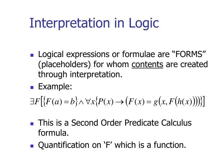 Interpretation in Logic