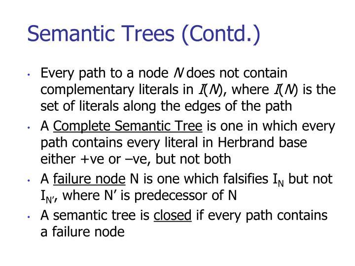 Semantic Trees (Contd.)