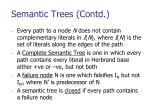 semantic trees contd