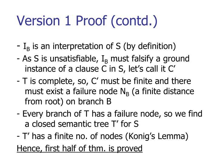 Version 1 Proof (contd.)