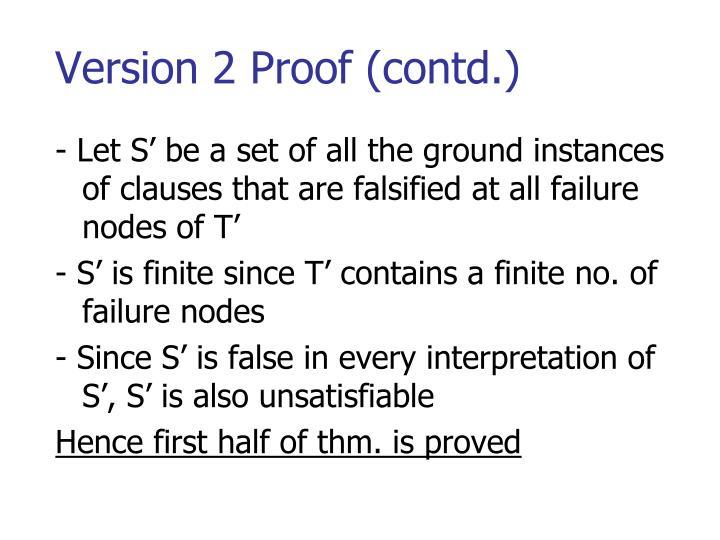 Version 2 Proof (contd.)
