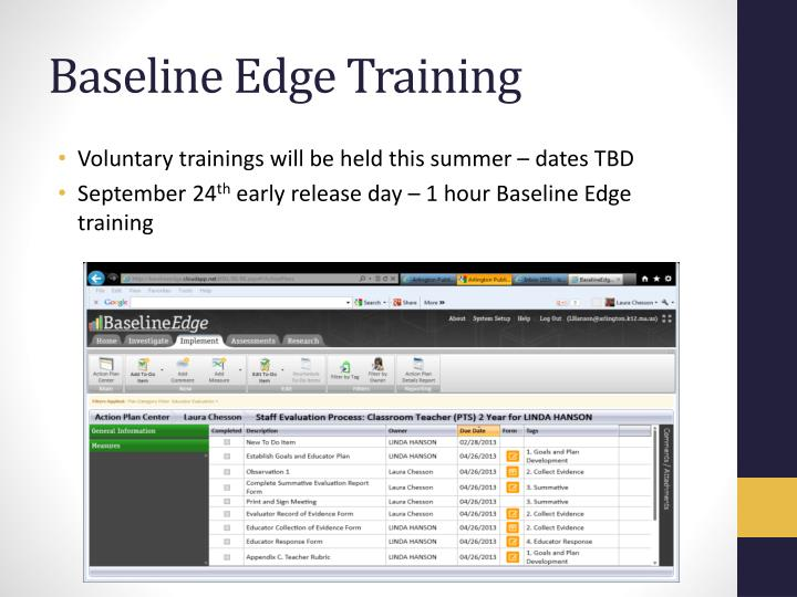 Baseline Edge Training
