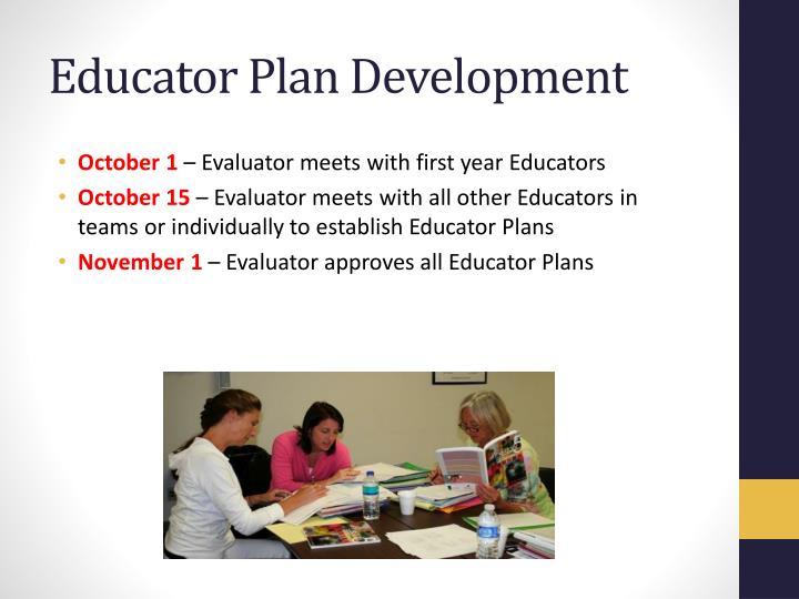 Educator Plan Development
