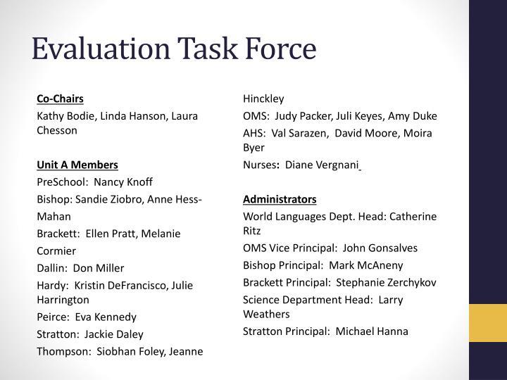 Evaluation Task Force