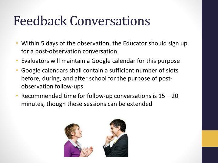 Feedback Conversations