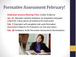 formative assessment february
