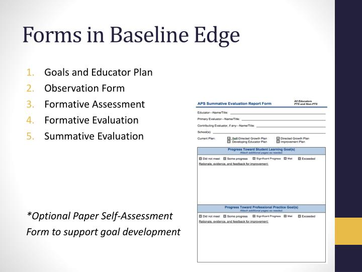 Forms in Baseline Edge