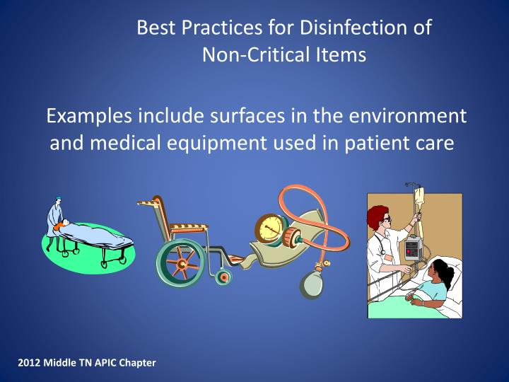 Best Practices for Disinfection of