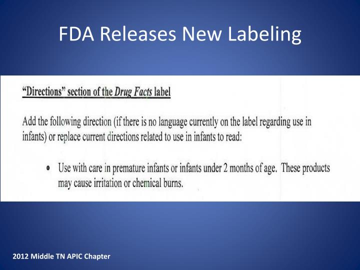 FDA Releases New Labeling