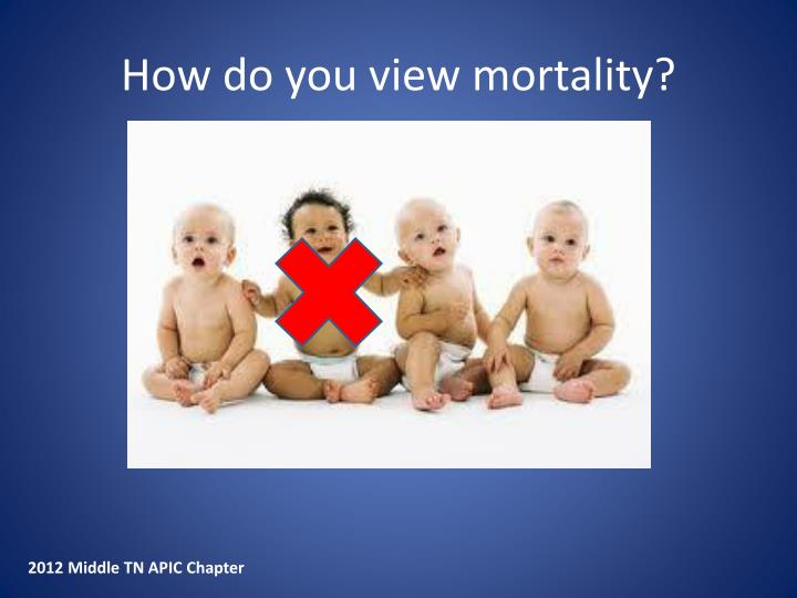 How do you view mortality?