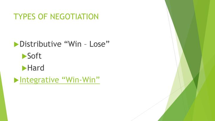 Types of negotiation