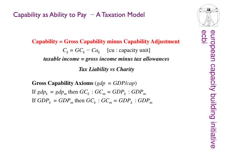 Capability as Ability to Pay