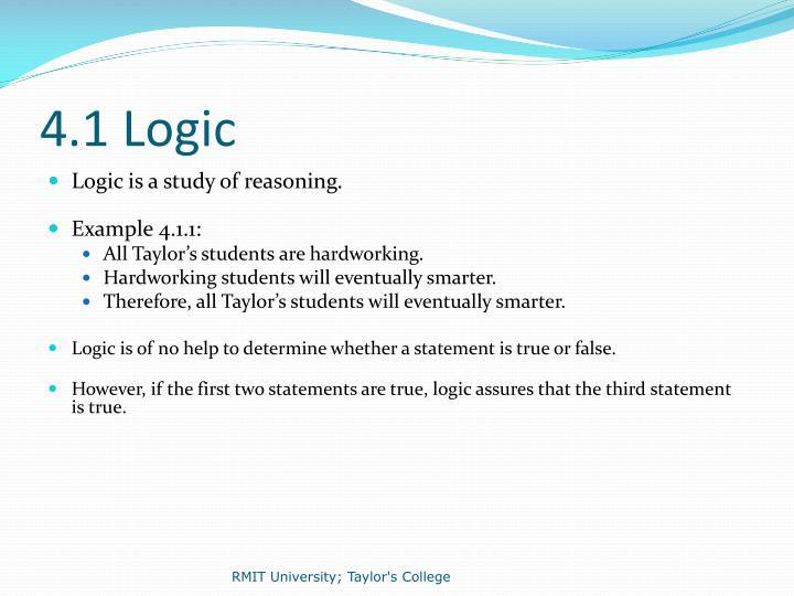 4.1 Logic