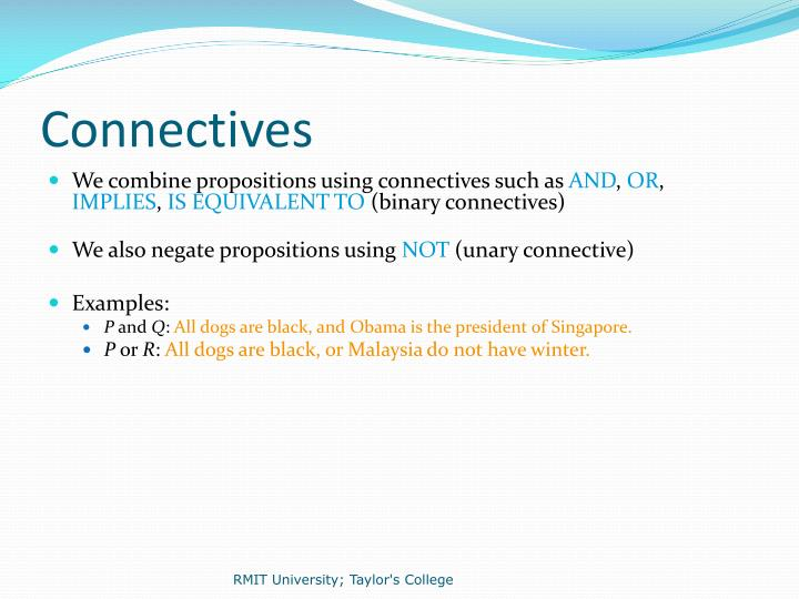 Connectives