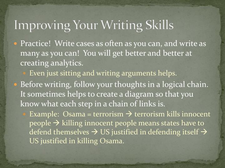 Improving Your Writing Skills