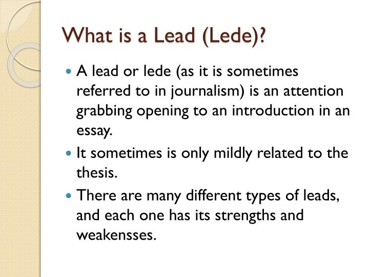 What is a Lead (