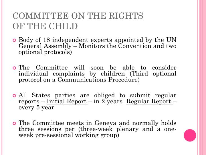 Committee on the rights of the child